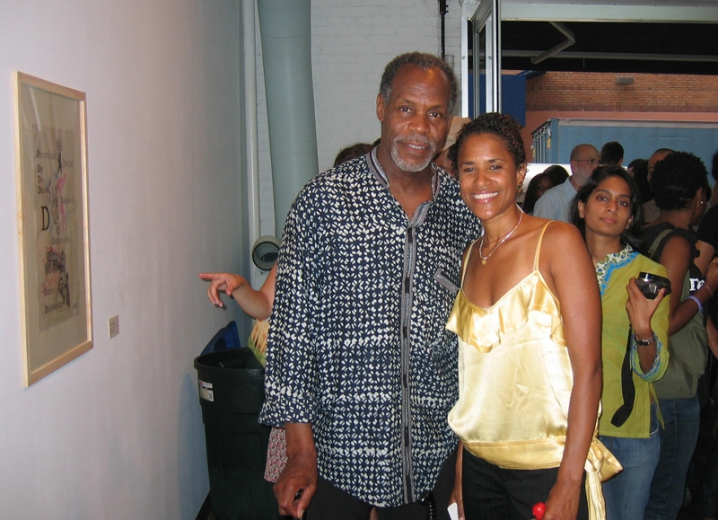 Jack Shainman Gallery Opening Actor Danny Glover & curator Isolde Brielmaier