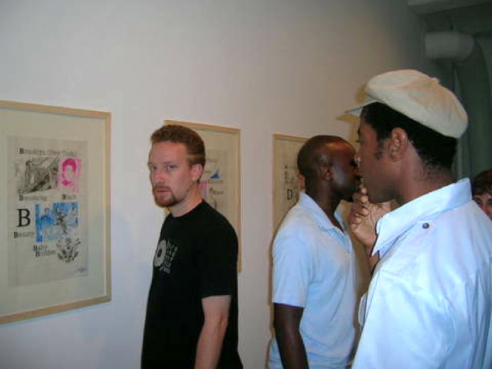 JSGallery Opening, R.Actor/Musician Alex Désert (Hepcat), L.artist Odili Odita