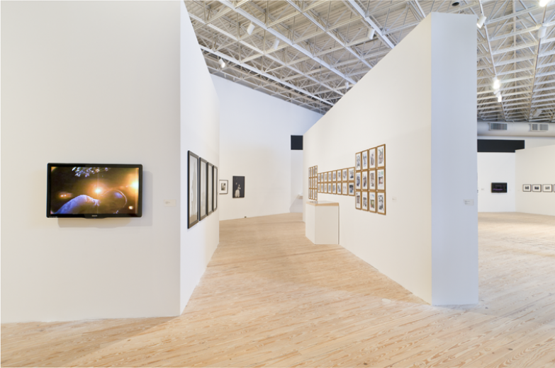 Installation view of Radical Presence: Black Performance in Contemporary Art at Contemporary Arts Museum Houston, 2012.  fhoto: Jerry Jones